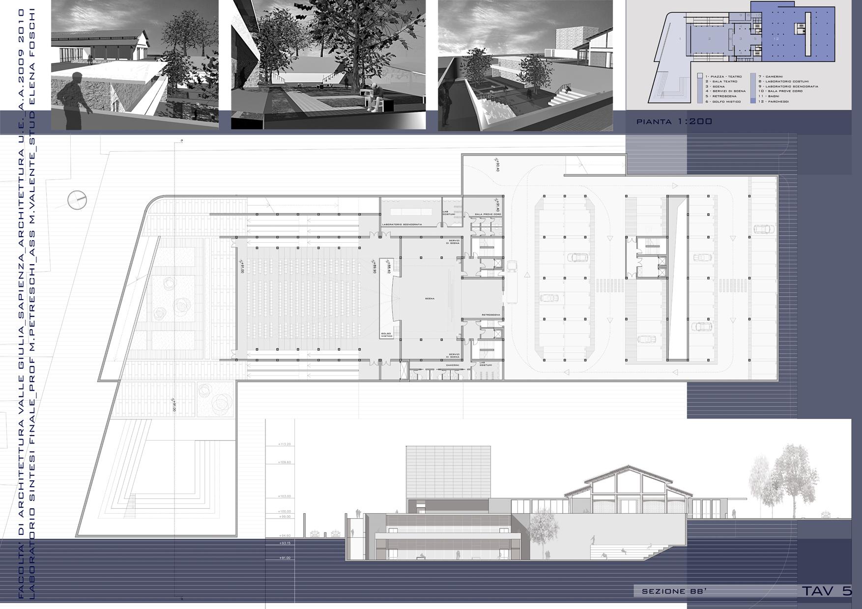Progetto di un teatro e un centro culturale nell'area dell'ex consorzio agrario di Pomezia